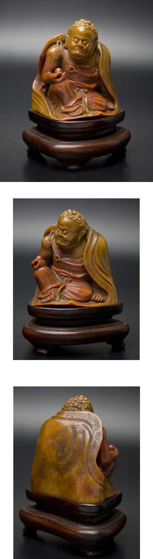 寿山石雕罗汉像-jpware